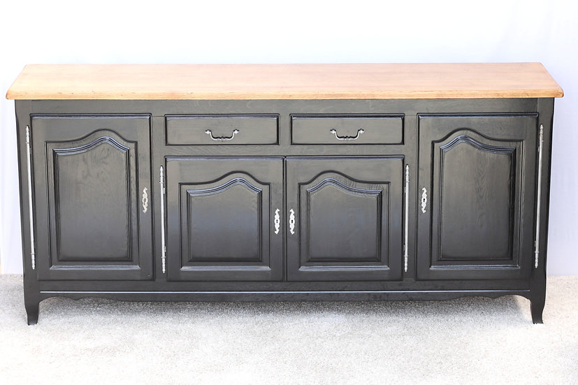 French-antique-vintage-oak-sideboard-enfilade-black-nz-new-zealand-image-1