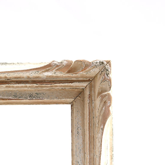 French-antique-vintage-wooden-picture-frame-distressed-paint-A4-size-nz-new-zealand-image-1