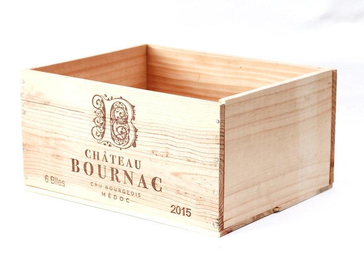 vineyard wooden wine box Chateau Bournac nz French European antique vintage furniture homeware décor nz side