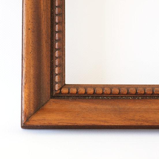 wooden carved picture frame French European antique vintage furniture homeware décor nz close up