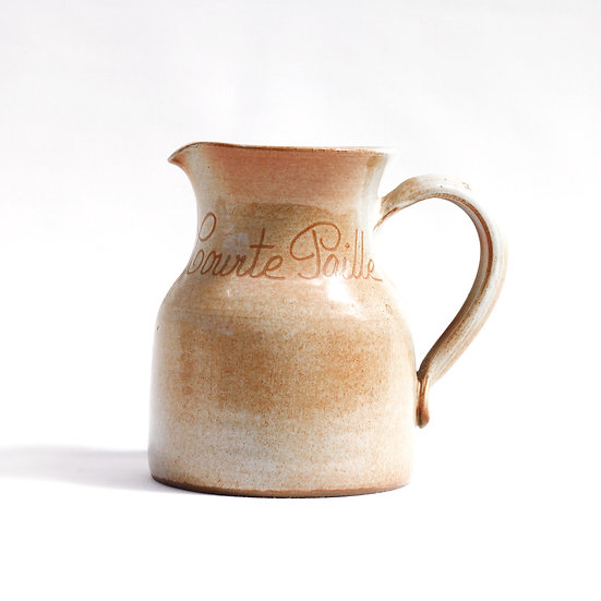 French-antique-vintage-stoneware-water-jug-courte-paille-pottery-provincial-rustic-farmhouse-nz-new-zealand-image-1