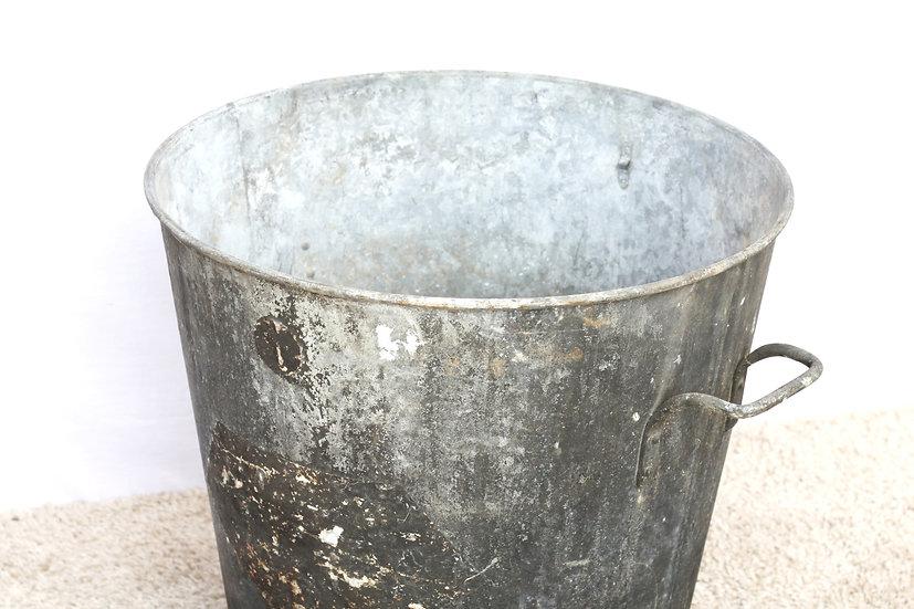 French-antique-vintage-aluminium-bucket-extra-large-size-nz-new-zealand-image-1