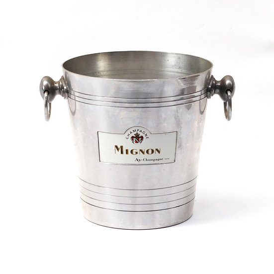 Champagne wine ice bucket aluminium champagne mignon bucket French European antique vintage furniture homeware décor nz full