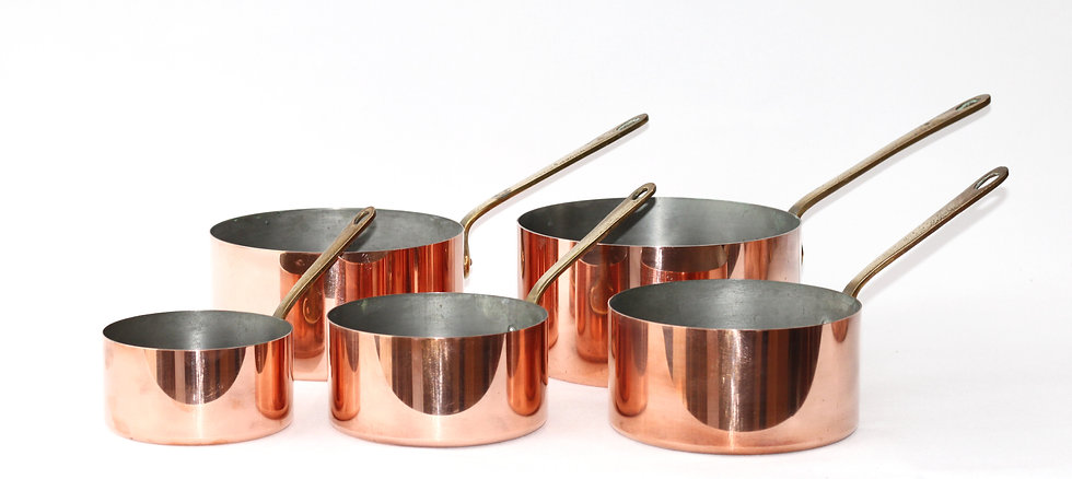 Copper pans - set of 5