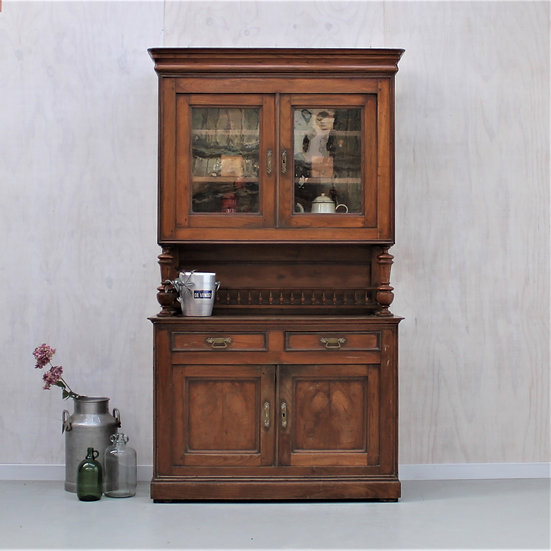 oak henry II carved buffet kitchen unit French European antique vintage furniture homeware décor nz front
