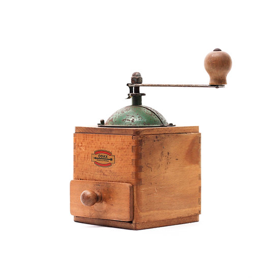 French-antique-vintage-coffee-mill-grinder-odax-green-top-nz-new-zealand-image-1