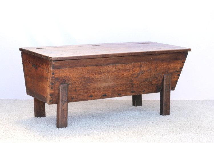 chestnut petrin dough bin kneading trough French European antique vintage furniture homeware décor nz side angle