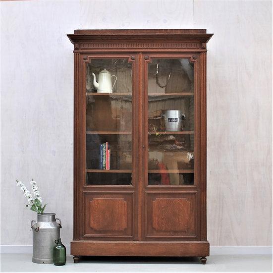 oak henry II carved armoire kitchen unit French European antique vintage furniture homeware décor nz front