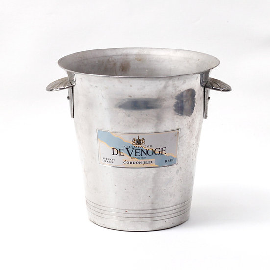Champagne wine ice bucket aluminium champagne de venoge French European antique vintage furniture homeware décor nz front