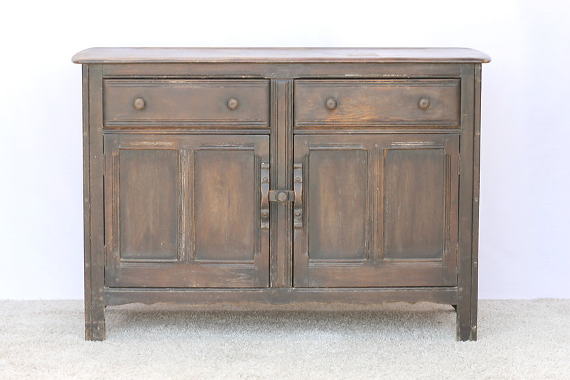 French-antique-vintage-ercol-elm-buffet-sideboard-nz-new-zealand-image-1