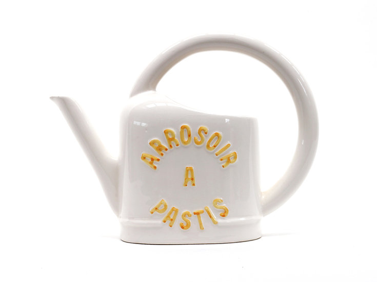 French-antique-vintage-arrosoir-a-pastis-jug-water-pitcher-cream-nz-new-zealand-image-1