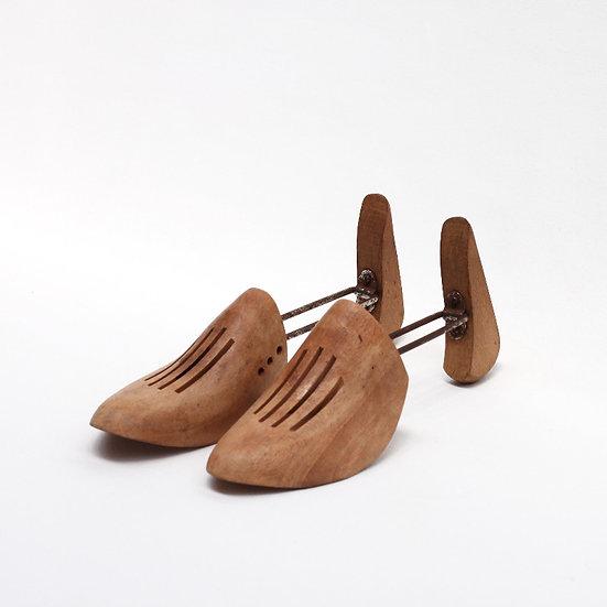 wooden shoe mould pair French European antique vintage furniture homeware décor nz side