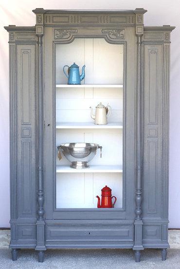oak henry II carved armoire kitchen unit French European antique vintage furniture homeware décor nz front view