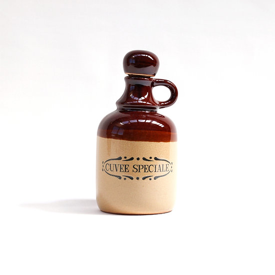 French-antique-vintage-stoneware-jug-brown-cork-stopper-pottery-provincial-rustic-farmhouse-nz-new-zealand-image-1