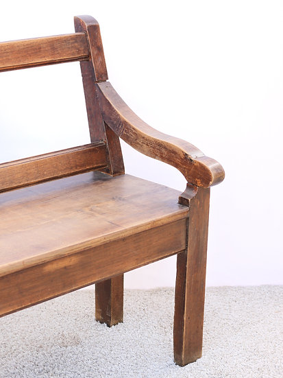 French-antique-vintage-oak-church-pew-bench-seat-nz-new-zealand-image-1