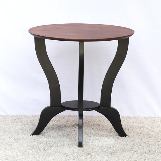 French-antique-vintage-round-coffee-side-table-black-legs-nz-new-zealand-image-1