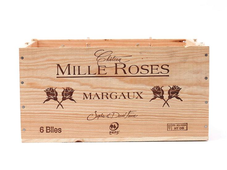 vineyard wooden wine box Chateau Mille Roses nz French European antique vintage furniture homeware décor nz front view