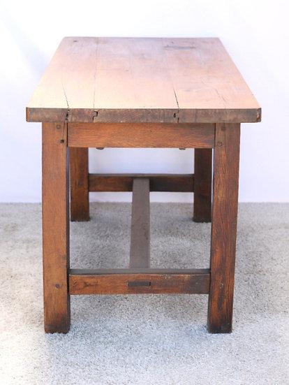 oak plank table hall farmhouse French European antique vintage furniture homeware décor nz end view