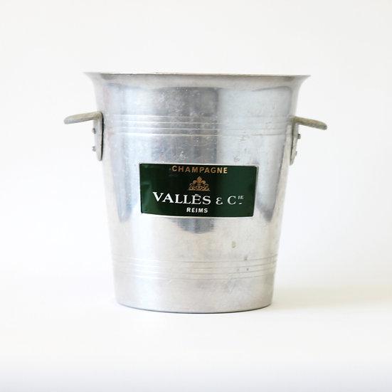 Champagne wine ice bucket aluminium valles and cie French European antique vintage furniture homeware décor nz
