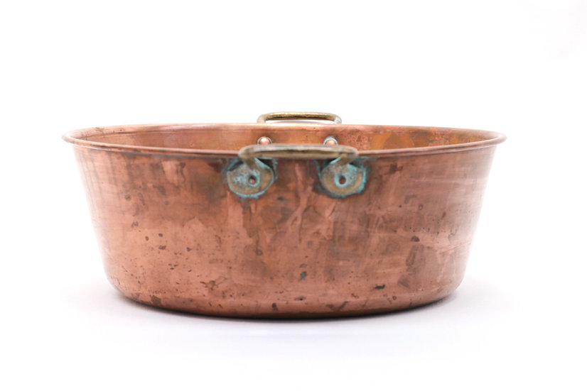 French-antique-vintage-copper-pan-shallow-lightweight-nz-new-zealand-image-1