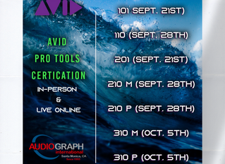 Avid Pro Tools Certification