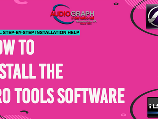 How to install the Pro Tools software