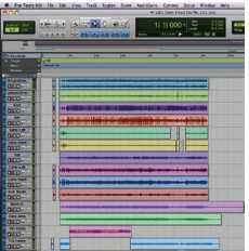 Figure 1. The Edit window in Pro Tools shows that the song does not Start at the beginning of the session.