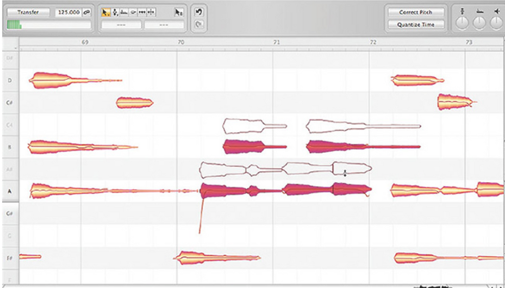 Figure 1. The Melodyne Celemony Tuning Program