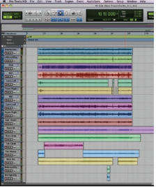 Figure 2. The Edit window in Pro Tools shows the deletion of Excess audio that is not needed.