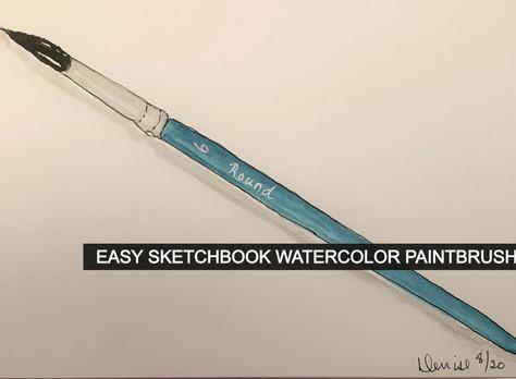 EASY SKETCHBOOK PRACTICE/ PAINT A PAINTBRUSH