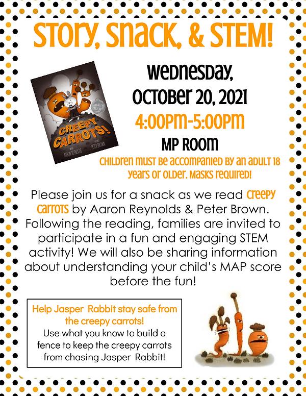 October Story, Snack, & STEM Flyer.png
