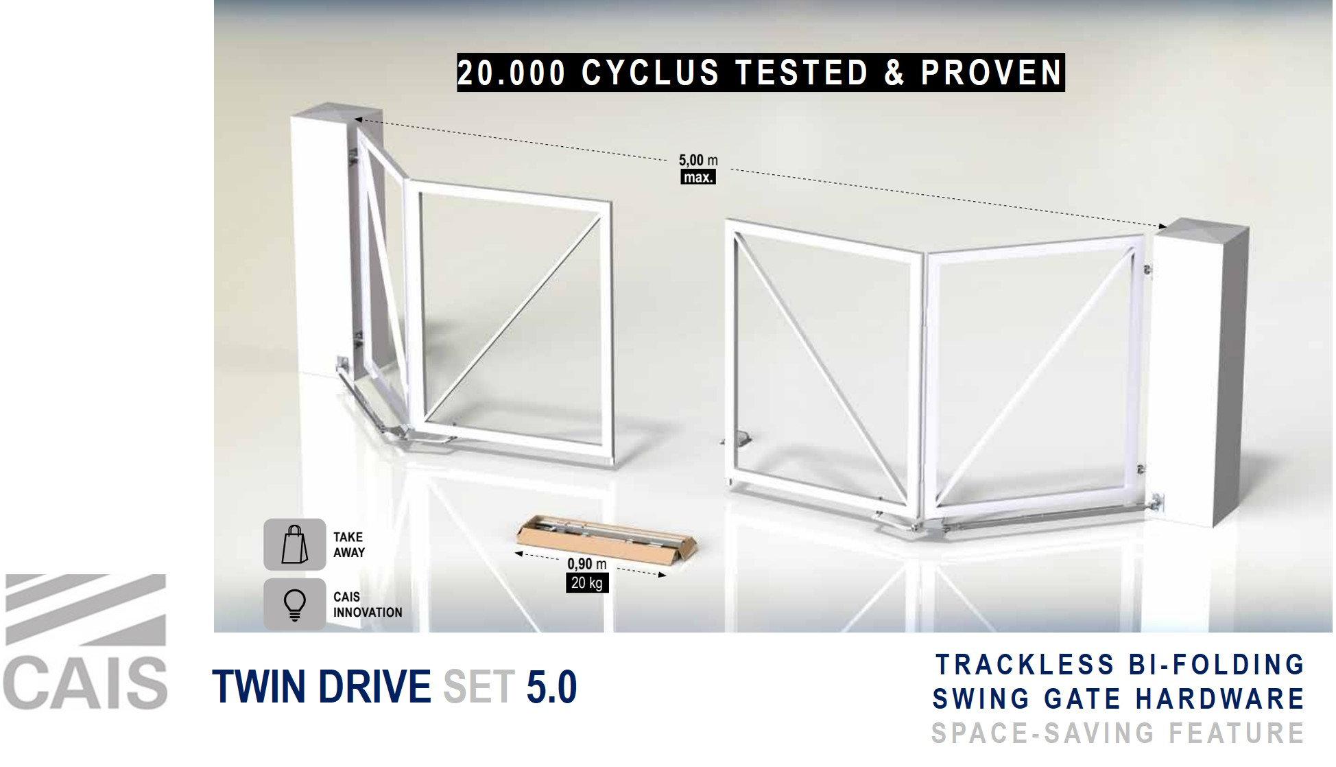 Picture of: New Twin Drive Set 6 0 Bi Fold Gate Hardware Caisrollinggear