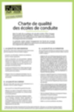 Charte qualité des écoles de conduite