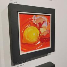 """Spill Kill.  8 1/4""""x8 1/4""""  Framed size.  Oil.  Ken Devine.  £80."""