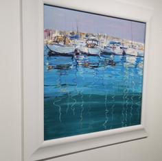 """Reflection.  30 1/2""""x30 1/2""""  Framed Size.  Oil.  Ken Devine.  £500."""