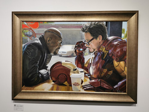 TONY STARK AND NICK FURY