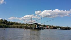 Bilancioni sul fiume Po di Volano. jpg
