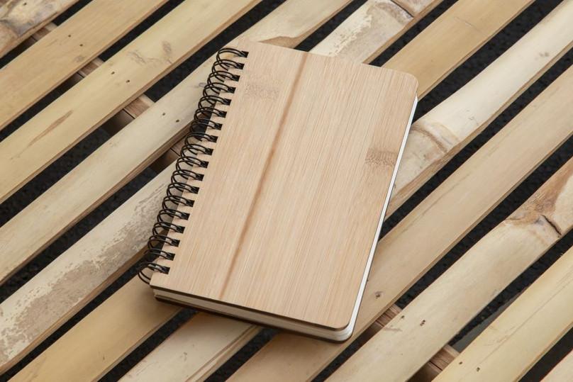 Carnet en pierre et bambou