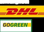 ZustellungDurch_DHL_GoGreen_webshop_logo