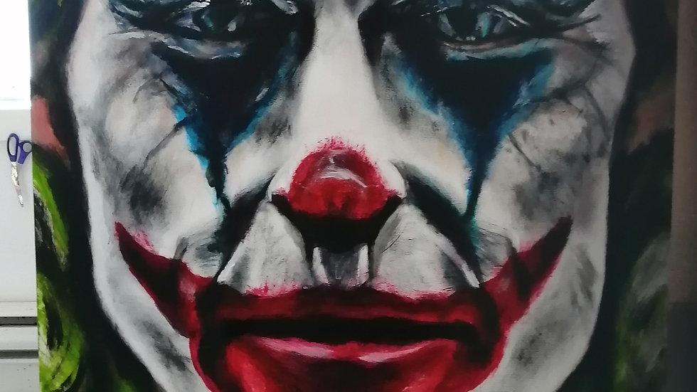 Acrylique sur bois , Joker