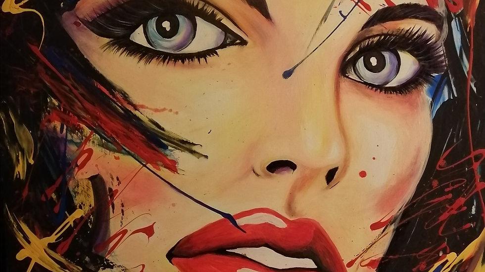 Acrylique sur toile , Alexis