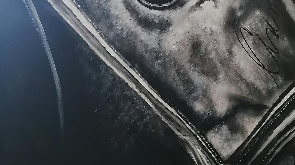 Acrylique sur bois , Eye
