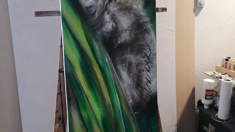 Acrylique sur toile, Sloth