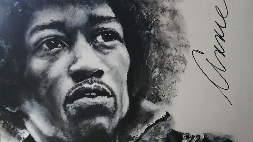 Acrylique sur bois, Hendrix
