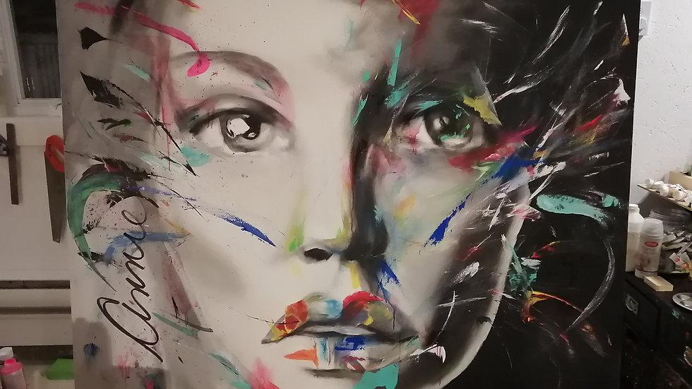 Acrylique sur toile , Freedom