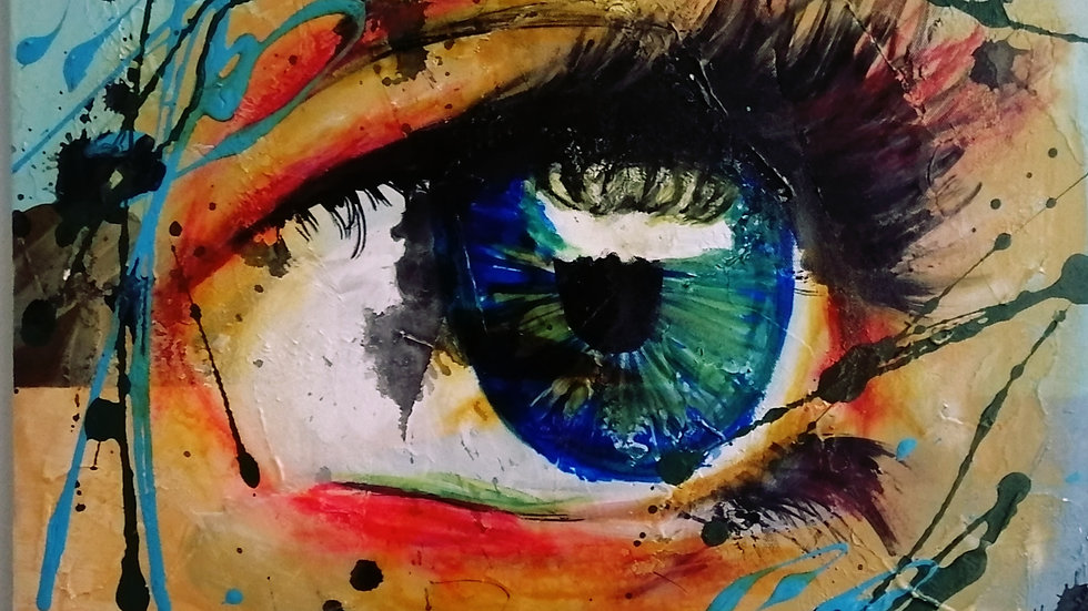 Acrylique sur toile fini Epoxy , Reflet
