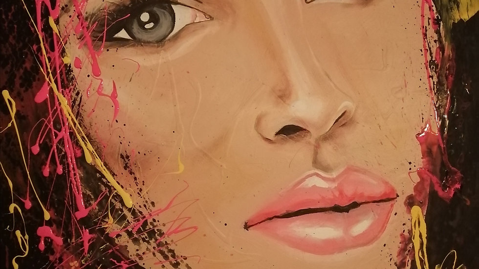 acrylique sur toile , Aly