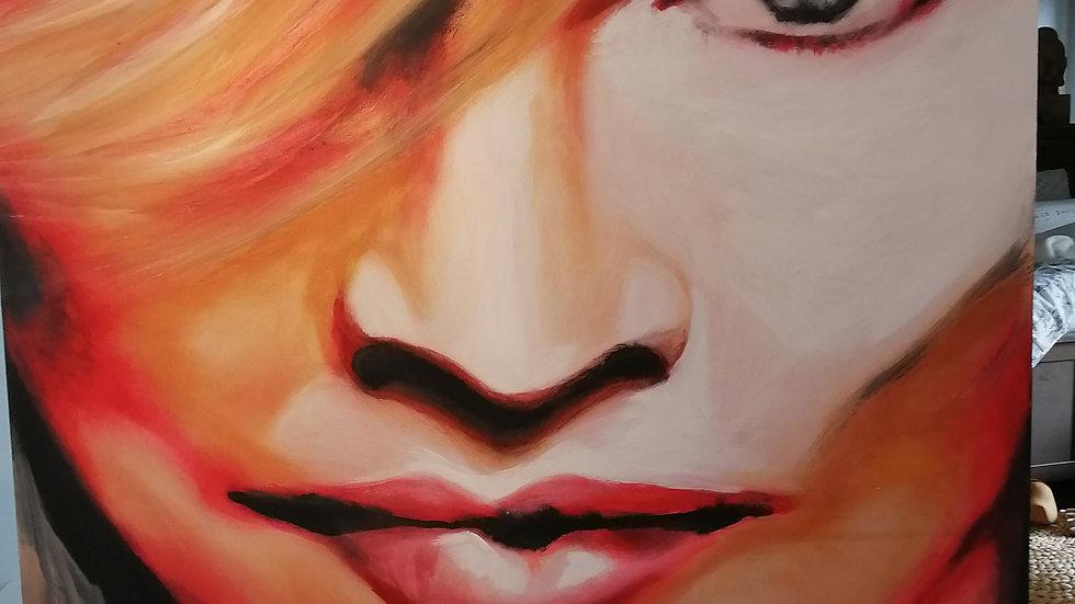 Acrylique sur toile, Flash