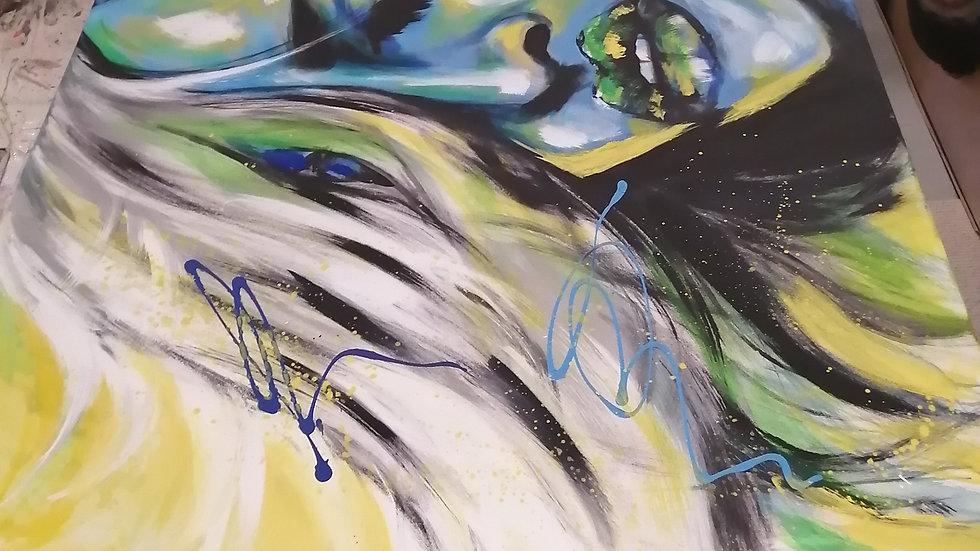 Acrylique sur toile , Peace