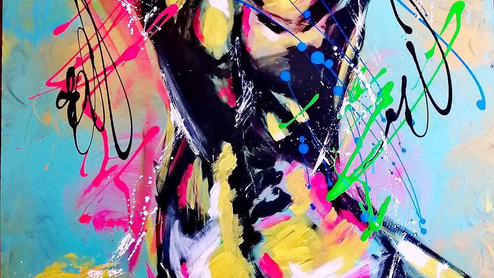 Acrylique sur toile , Back Lace